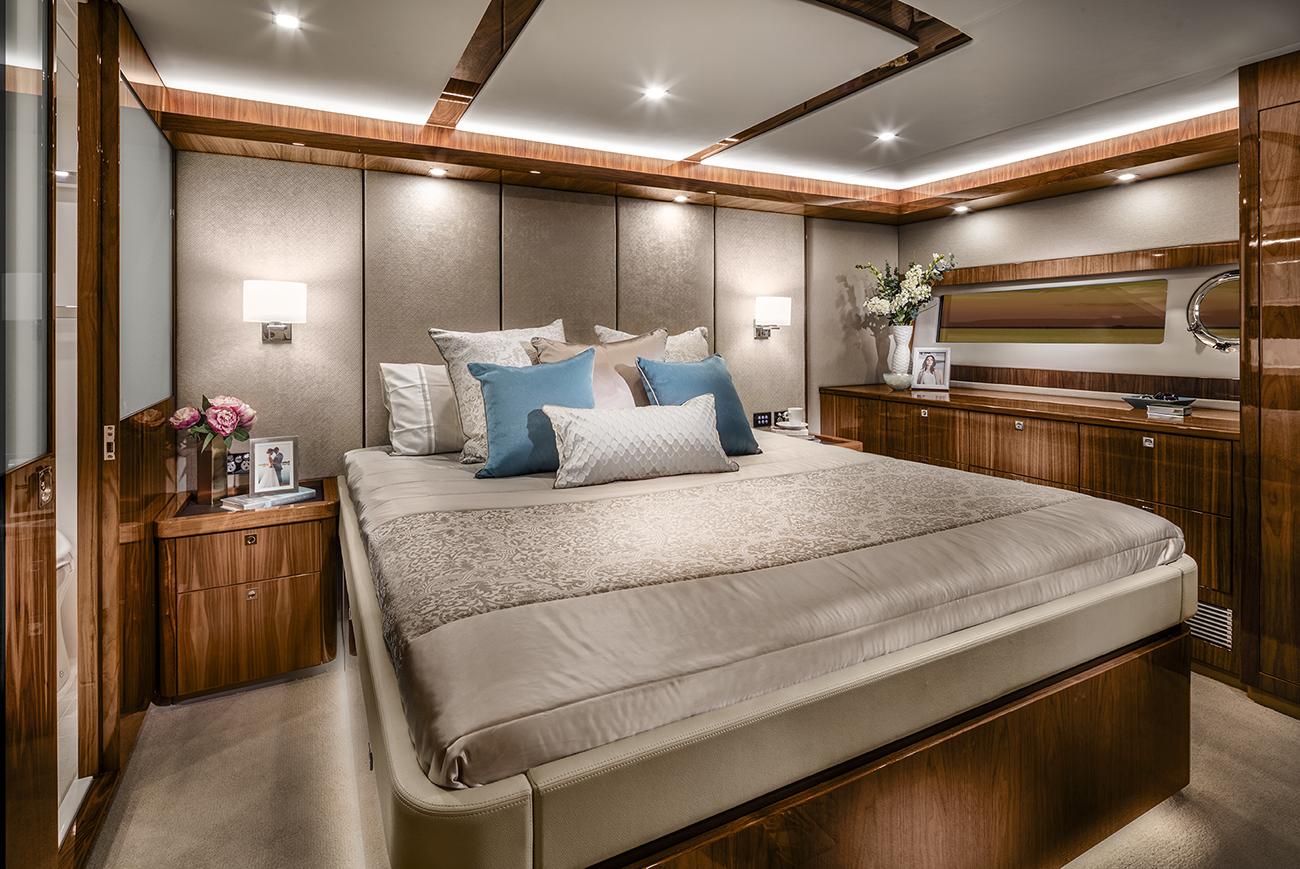 Riviera 68 Sports Motor Yacht Master Stateroom Classic Layout