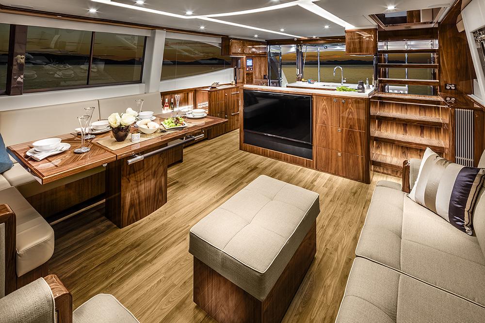 Riviera 68 Sports Motor Yacht Saloon