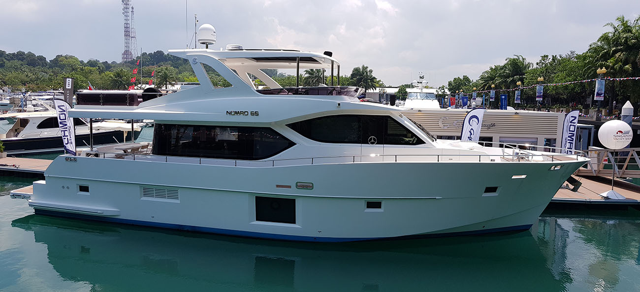 Gulf Craft Majesty Nomad 65 at Singapore Yacht Show