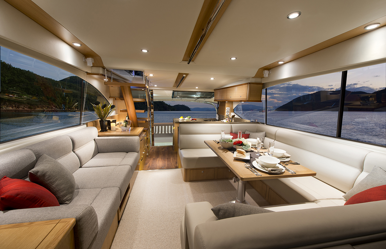 Riviera Yacht 52 Enclosed Flybridge Saloon