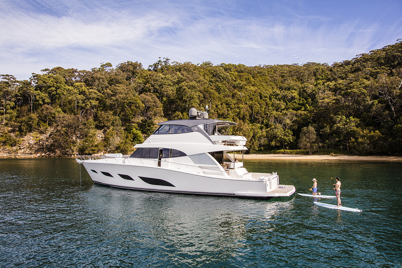 Riviera Yacht 72 Sports Motor Yacht Anchored