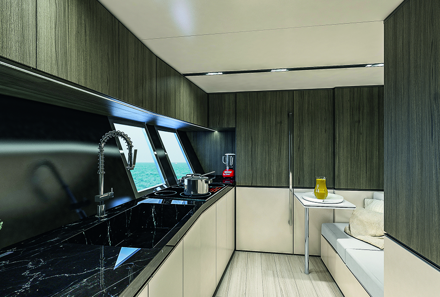 Arcadia Yacht SHERPA XL - GALLEY