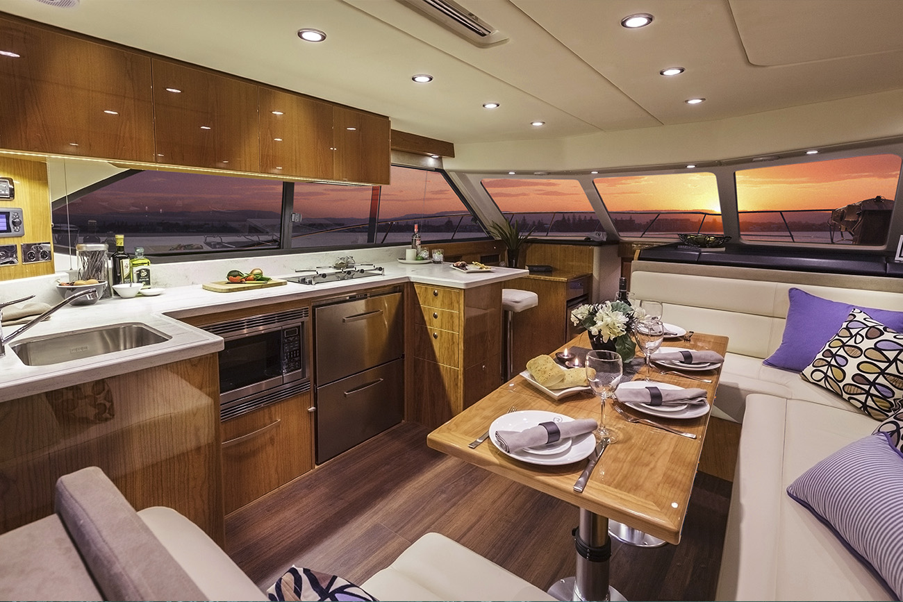 Riviera 43 Open Flybridge Interior