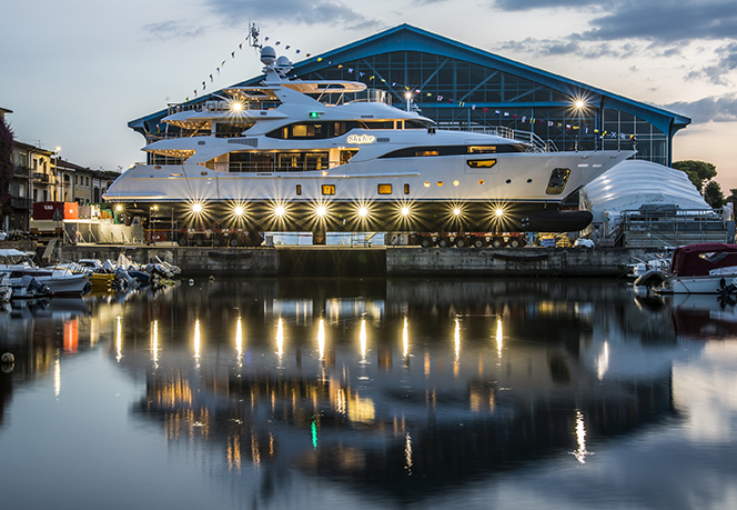 Benetti Yacht BY009 Crystal 140 Launch