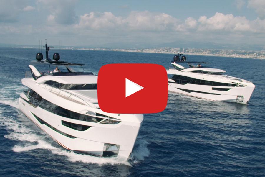 Dominator Yacht Ilumen 28M Aerials
