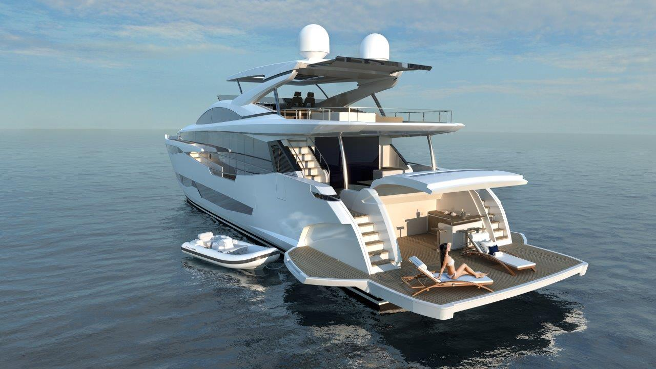 Pearl Yacht 95 - Aft view