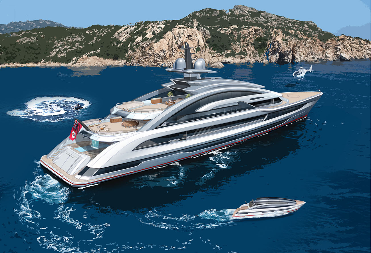 Heesen Yacht 80M Cosmos - Aft view