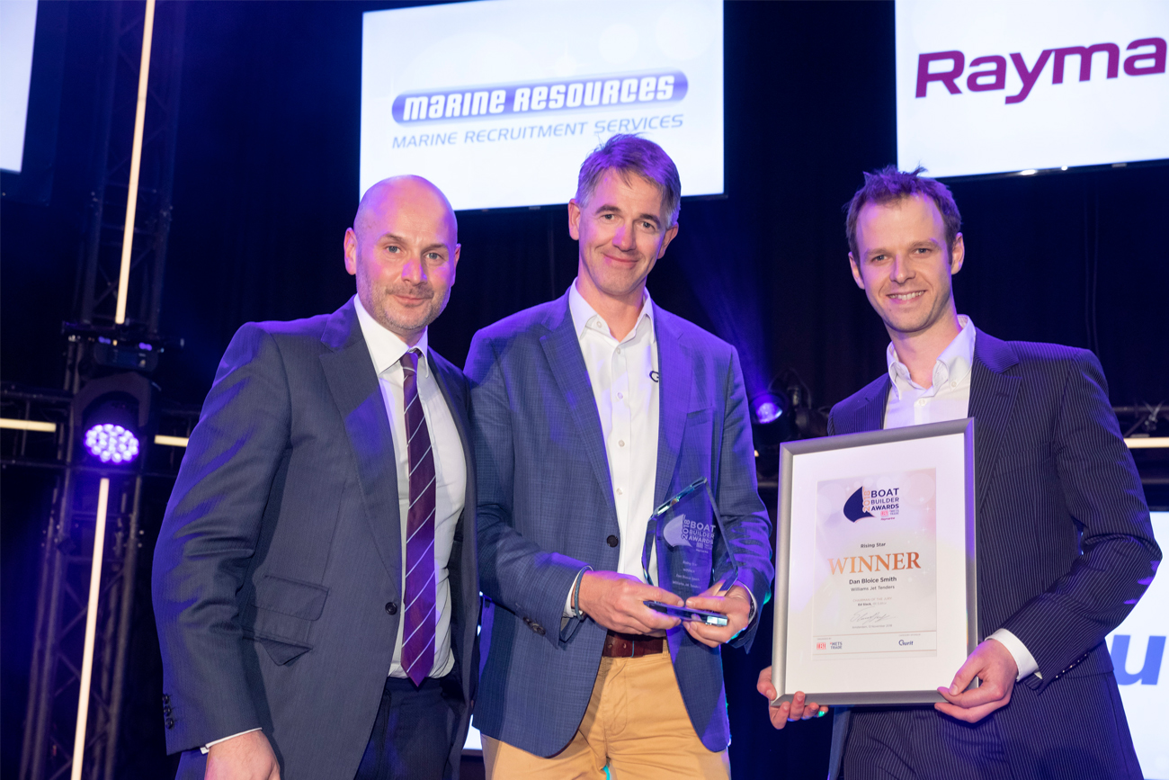 Williams celebrate winning inaugural award at the Boat Builder Awards