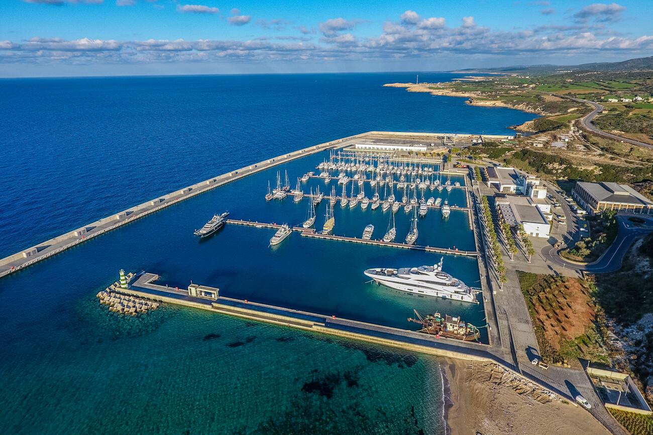 Karpaz Gate Marina Aerial