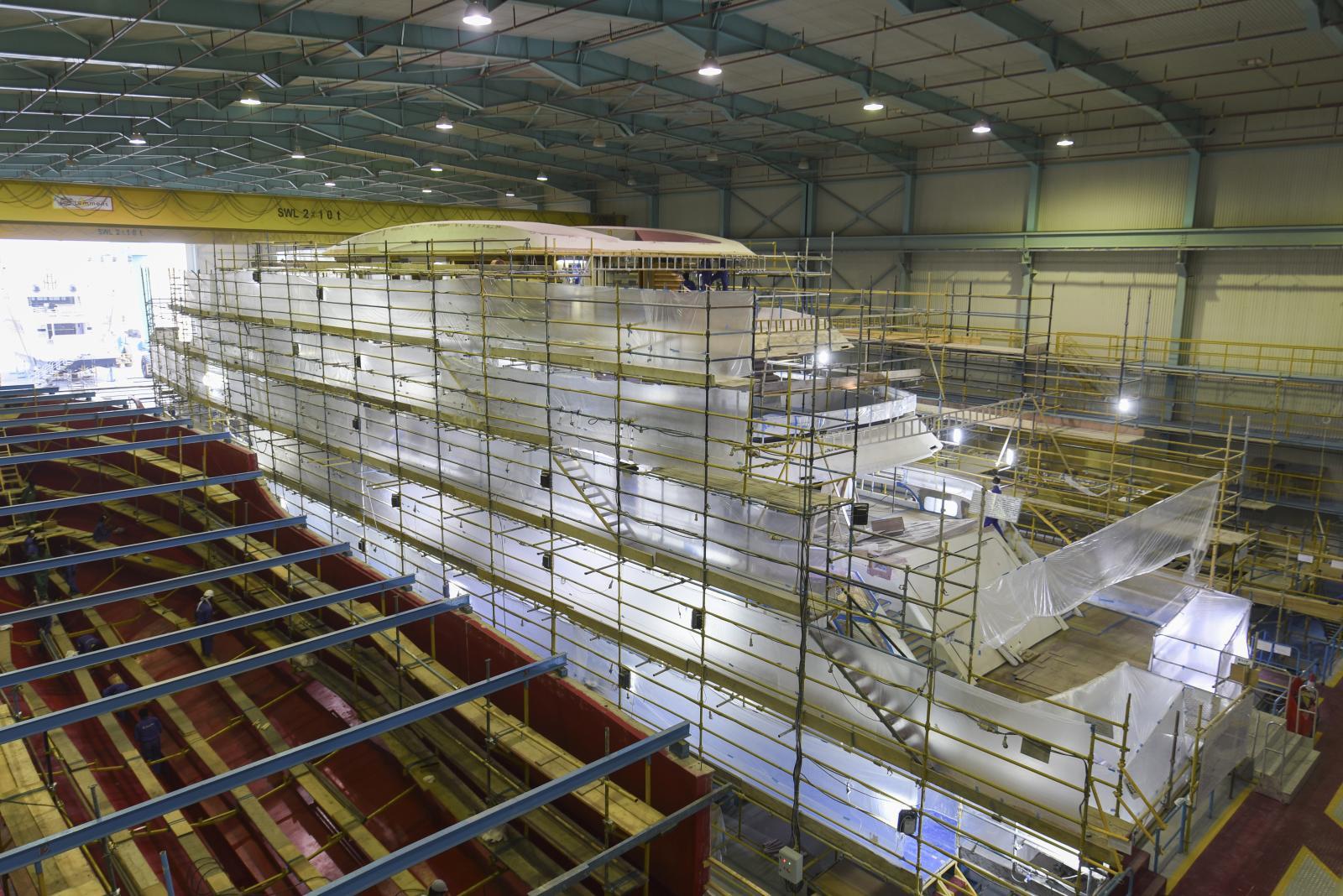 Majesty Yacht 175 Under Construction