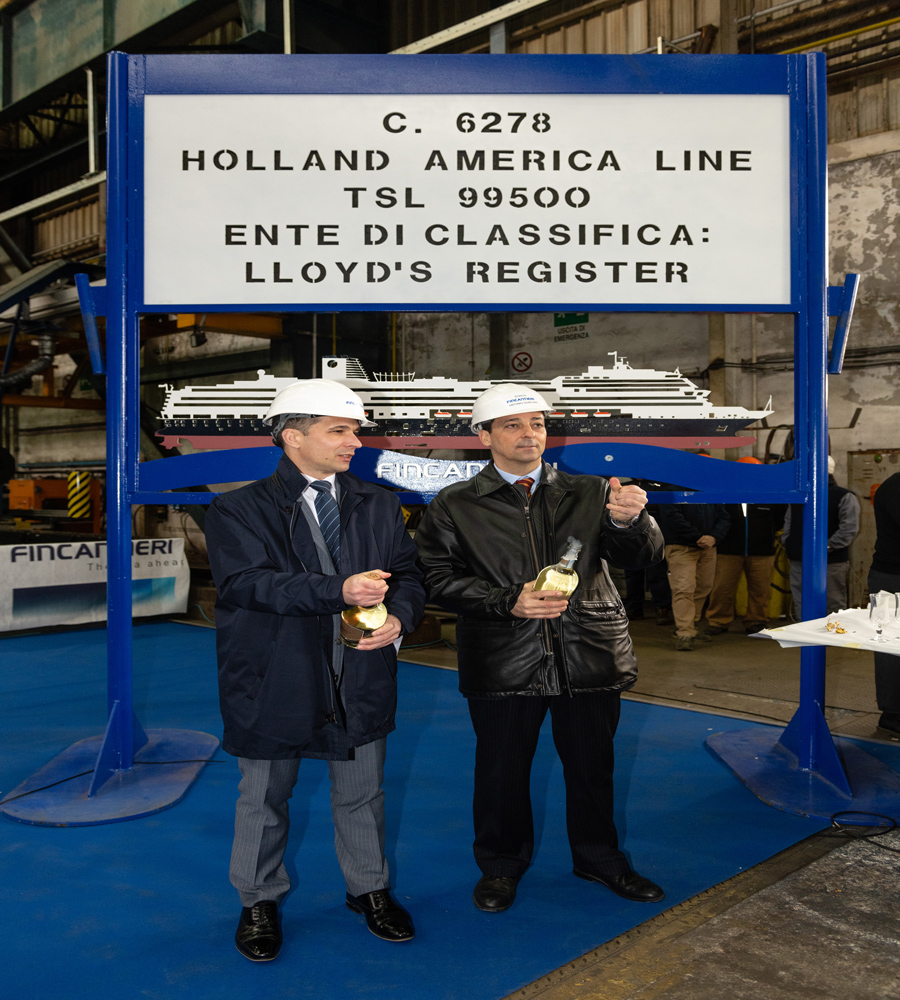 Phoenician Boat - building for Holland America Line