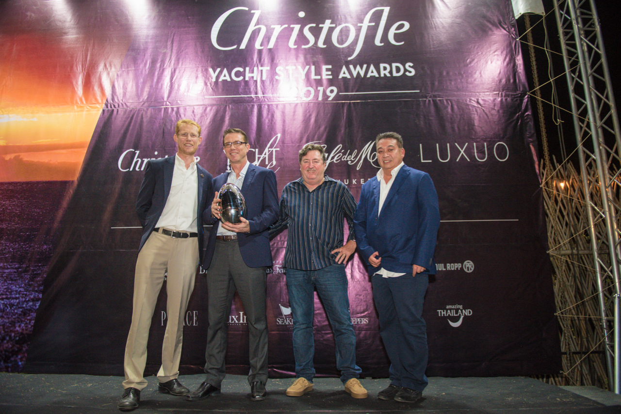 Sunseeker Yacht receive the Christofle Yacht Style Award