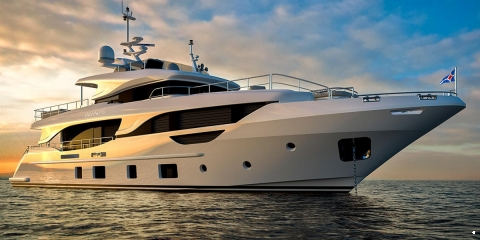 The First Hull in the Benetti Delfino 95 series - اليخوت الأخبار