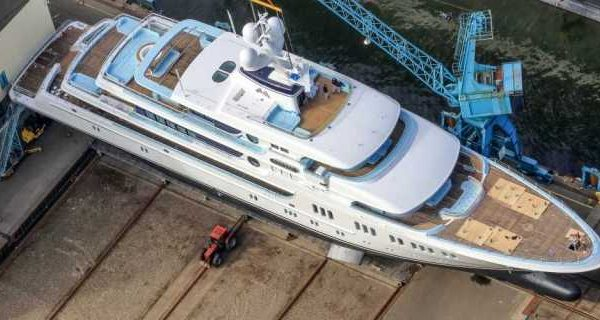 Lürssen Superyacht Project Thor Launched and Named Aurora - اليخوت الأخبار
