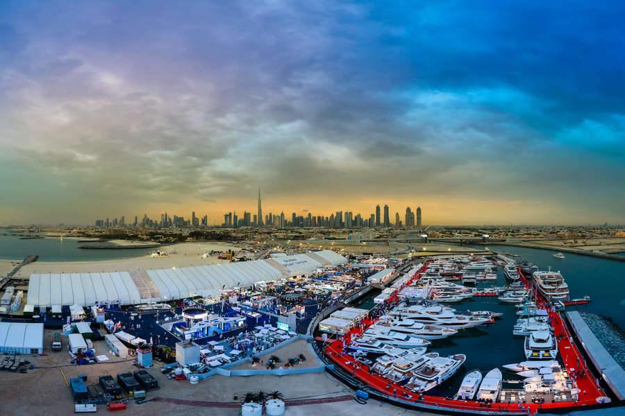 Dubai Boat Show Skyline