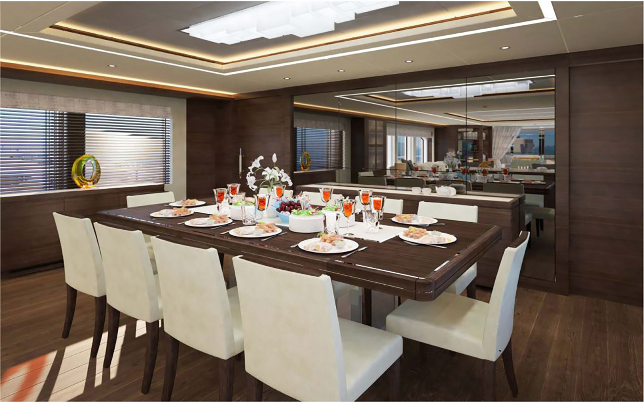 Gulf Craft - Majesty 125 - Main Dining