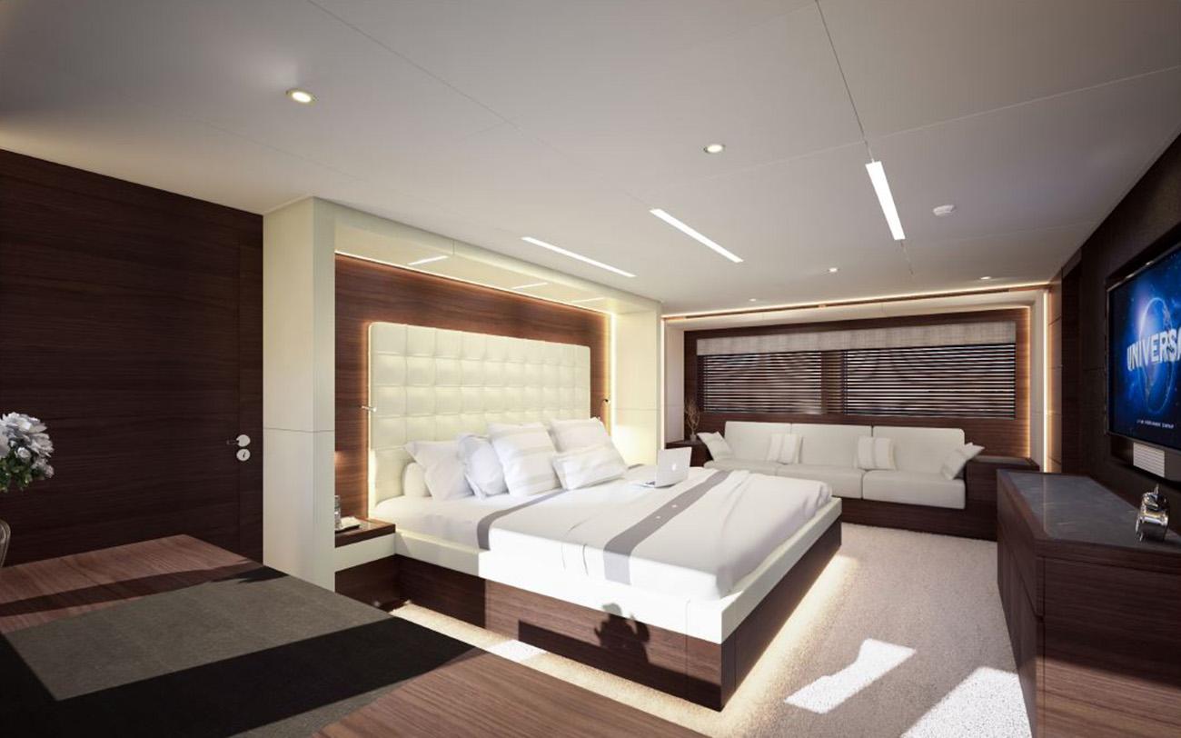 Gulf Craft - Majesty 125 - Owners Stateroom