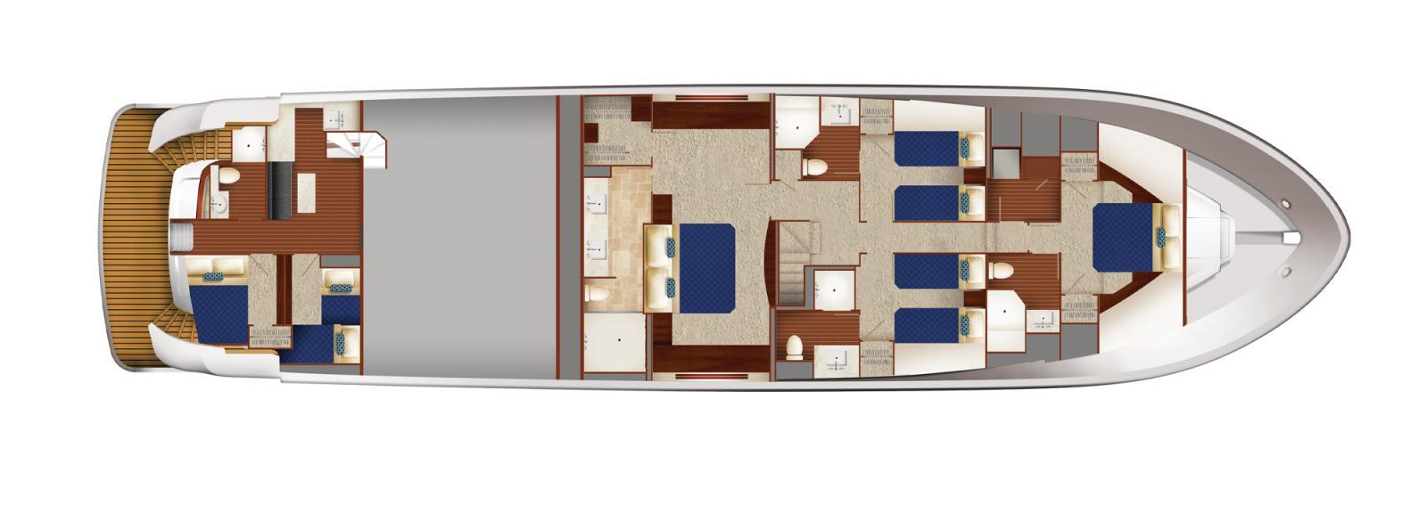 First Hatteras 90 Motor Yacht Under Construction