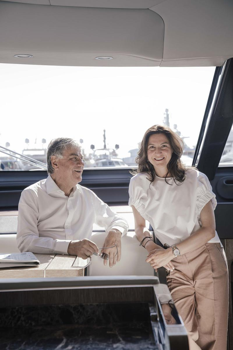 Paolo e Giovanna Vitelli, Presidente e Vice Presidente di Azimut Benetti Group