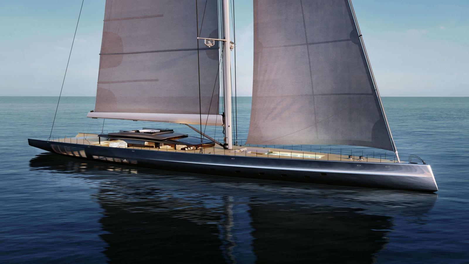 Sailing Superyacht MM 725 - Malcolm McKeon Yacht Design