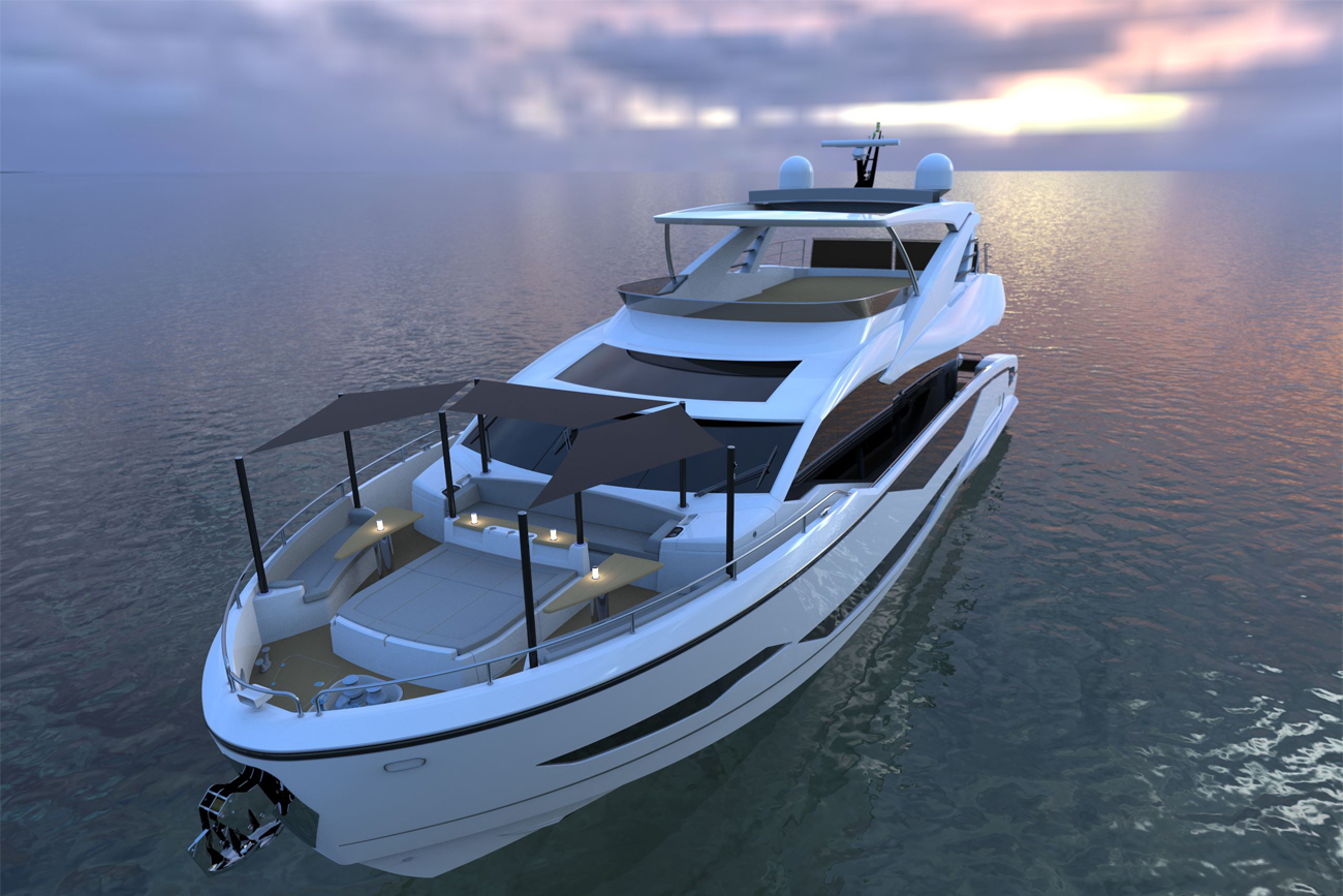 Sunseeker Yacht Project 8X