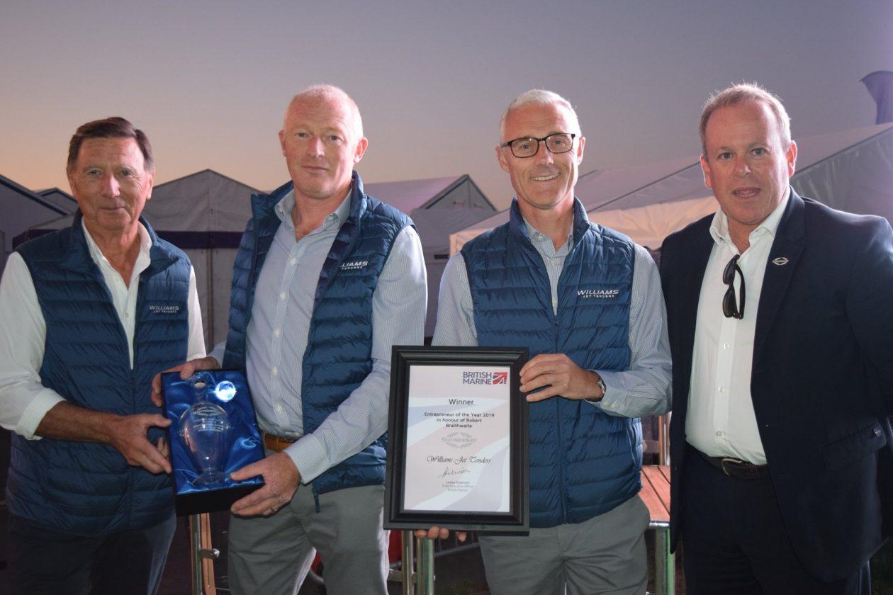 Williams Jet Tenders presented with prestigious award